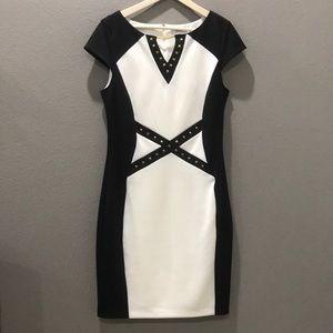 Beautiful Black and White Studded Dress